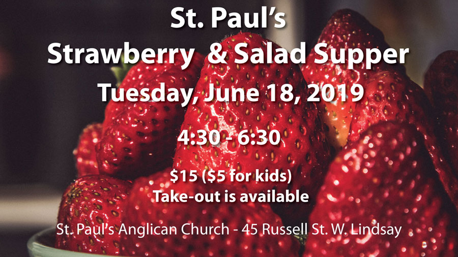 2019 Strawberry Supper