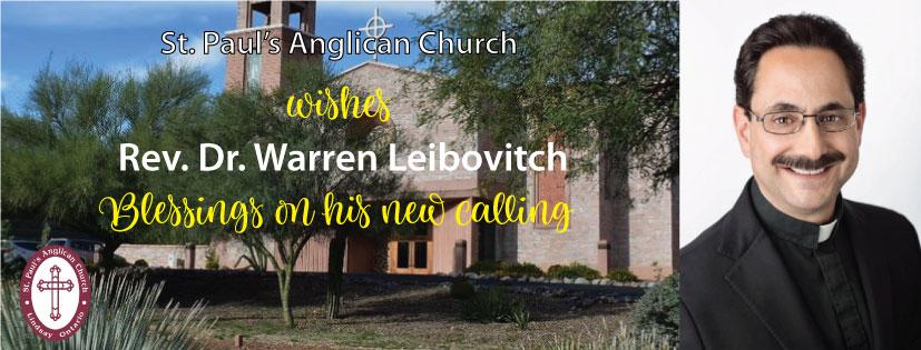 We wish Rev. Dr. Warren Liebovitch blessings