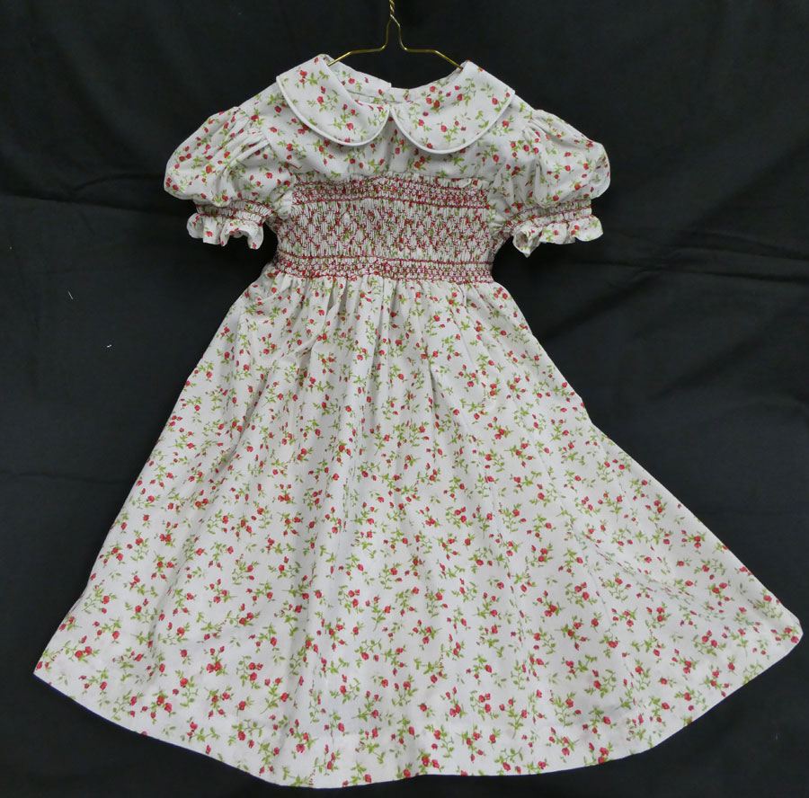 Hand-smocked Flowered Child's Dress