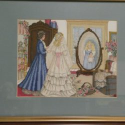 Framed Handcrafted Cross Stitch Picture