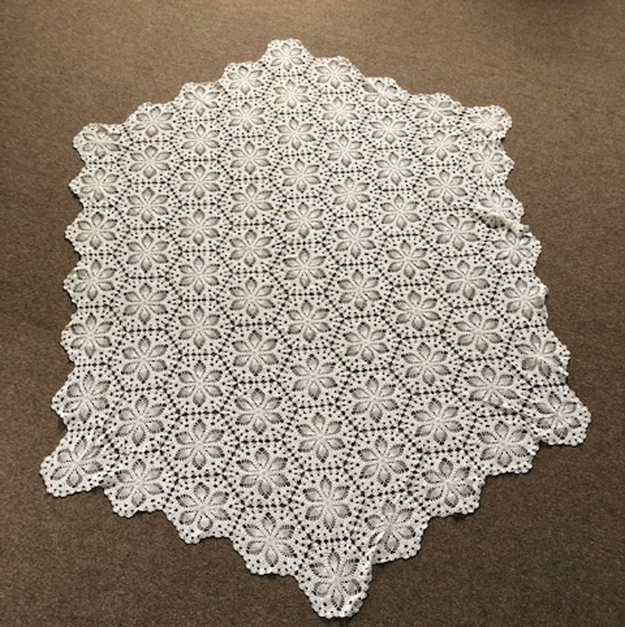Hand Crocheted Table Cloth