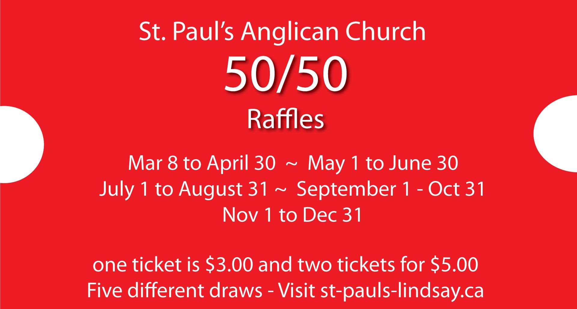 50/50 Draw Fundraiser